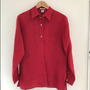 Red Linen Shirt🔥3 for $20